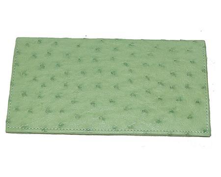 Product# XFY3 Wallet ~ billetera ~ CARTERAS Large Ostrich Wallet Mint Green