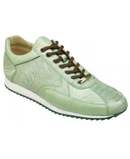Mens Casual Genuine Ostrich