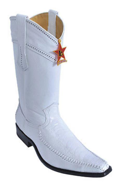Ostrich Leg Leather White