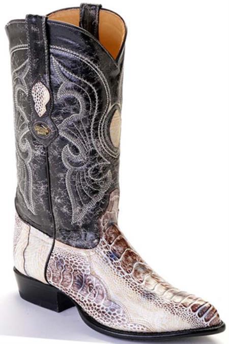 Product#KA0289 Ostrich Leg Natural Beige Authentic Los altos Western Boots Cowboy Classics Riding