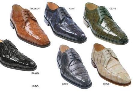 Product# KA2344 ultra-suave has a genuine Oxfords Crocodile ~ Alligator skin upper with genuine ostrich trimming lace up