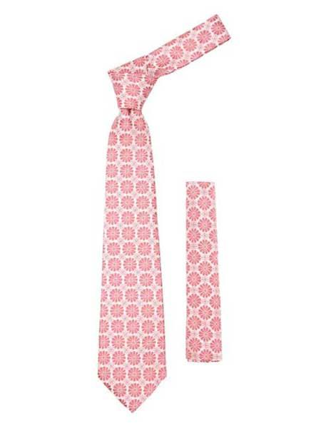 Trendy Pink Necktie Floral