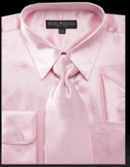 Mens Shiny Satin Pink
