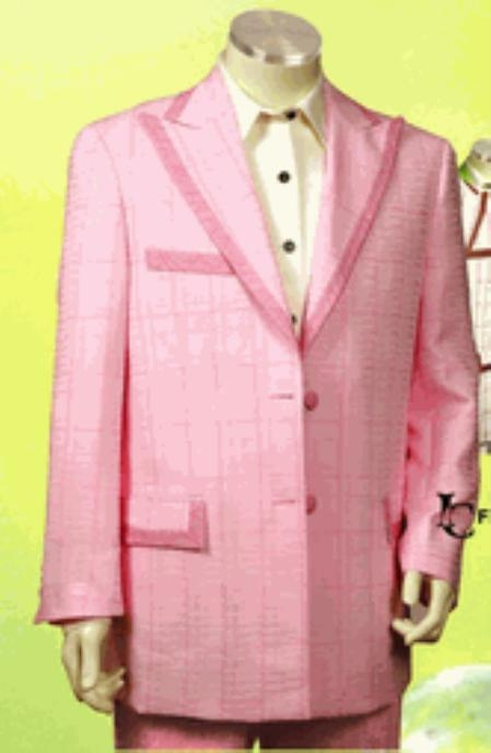 Fashion Light Pink Suit