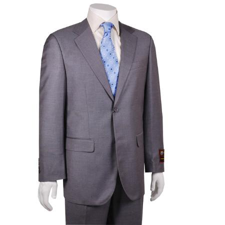 Solid Grey 2-button Suit