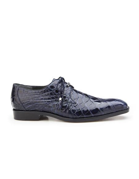 Mens Navy Plain Toe