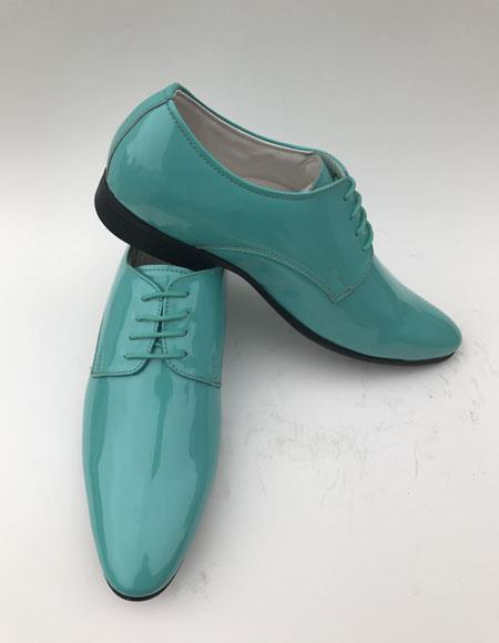 Mens Turquoise Teal Plain