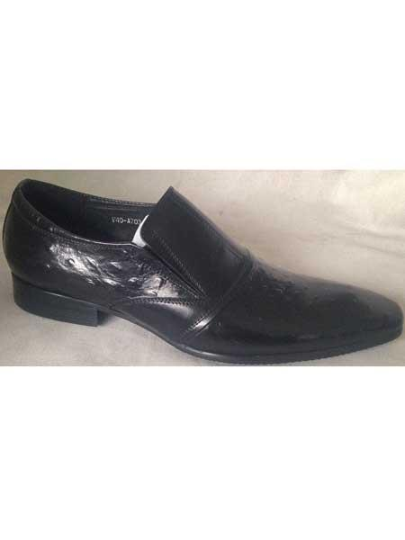 Mens Embossed Leather Long