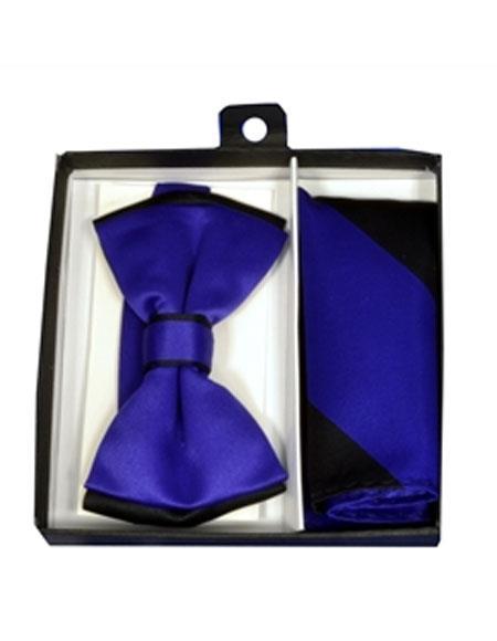 Mens Polyester Black/Purple Satin
