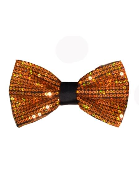 Mens Polyester Gold Sequin