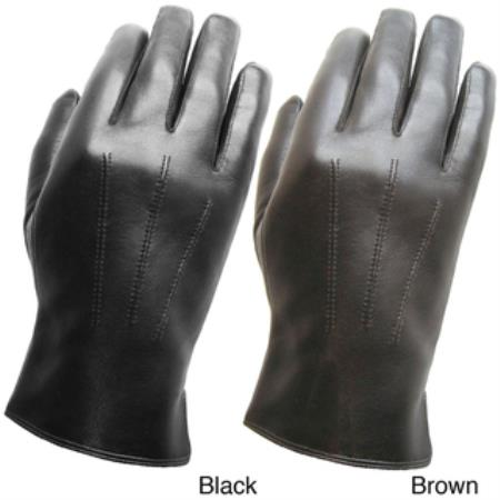Premium Leather Gloves Blackbrown