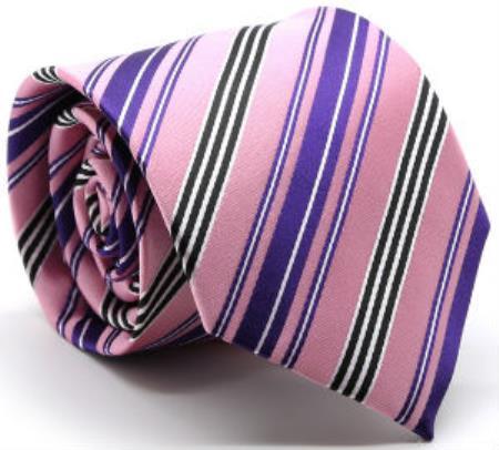 Premium Mutli-Stripe Tie Pink