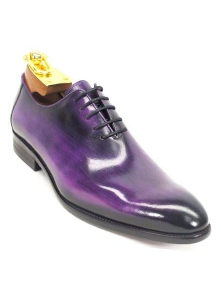 Carrucci Mens Purple Lace