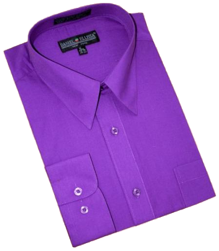 Product# DG404 Purple color shade Cotton Blend Dress Shirt With Convertible Cuffs