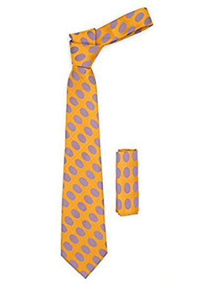 Mens Orange Necktie with