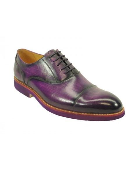 Mens Fashionable Carrucci Purple