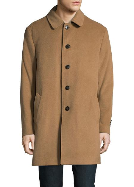 differently various design new cheap Product# SM4751 Designer Brand Men's 3/4 Classic-Fit Down Filled Wool  Overcoat