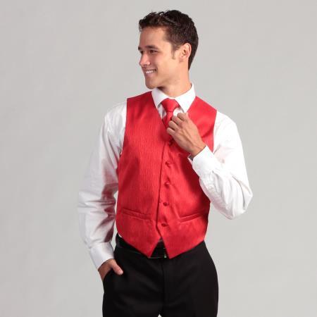 4-Piece red color shade Corrugated Vest Set