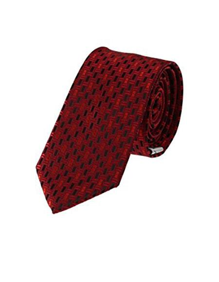 Mens Geometric Necktie Woven