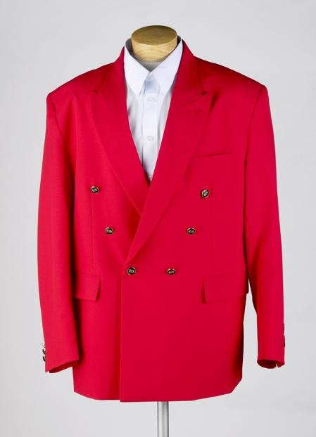 Product# MUZ762TA red color shade Double Breasted Blazer Online Sale JACKET