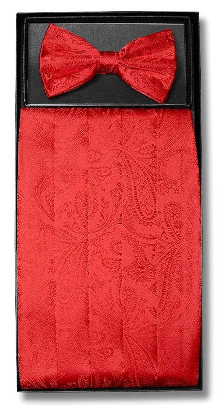 Mens Red Paisley Pattern