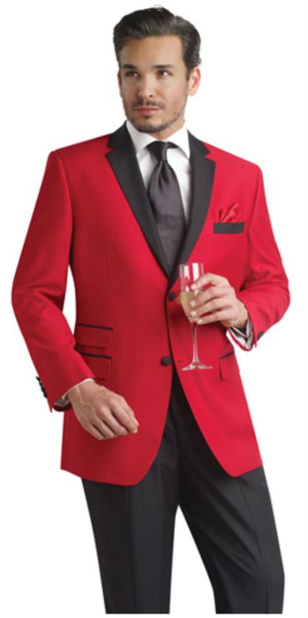 Product# Rfc7111 red color shade Two Button Notch Party Smoking Jacket Blazer Online Sale Tuxedo Boys And Men Suit + Free Liquid Jet Black Pants ( Velvet or Suit Fabric )