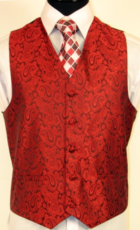 red color shade VEST