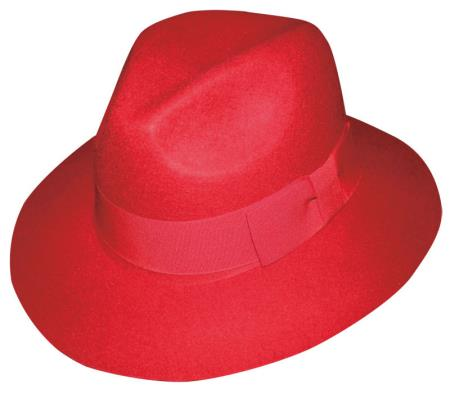 Product# C038-G New 100% Wool Fabric Fedora Trilby Mobster suit hatred color shade