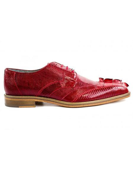 Mens Genuine Leather Red