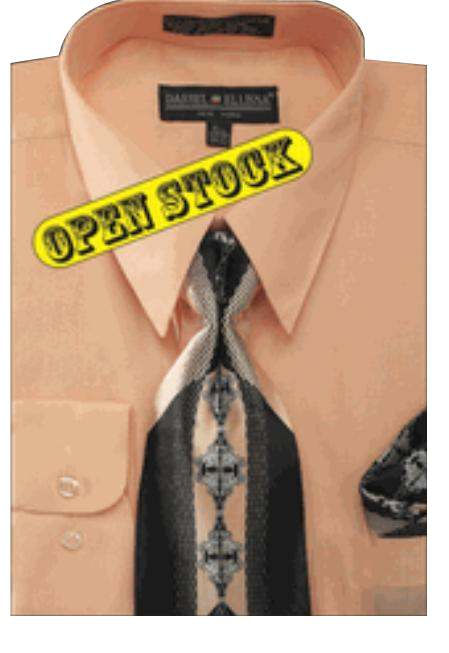 Product# BS121 Basic Dress Shirt with Tie and Hanky Set