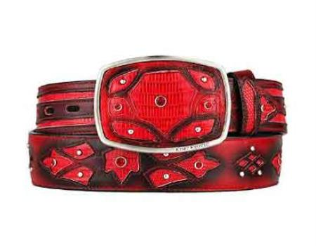 Fashion Western Belt red