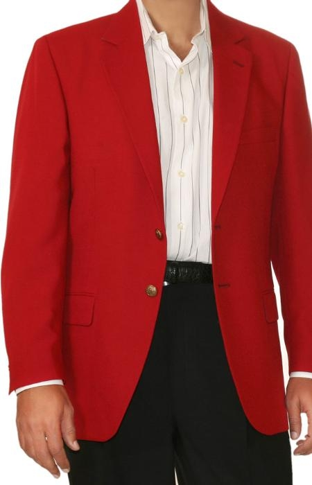 red color shade Two Button Blazer Online Sale Fabric Blend ( + Women)