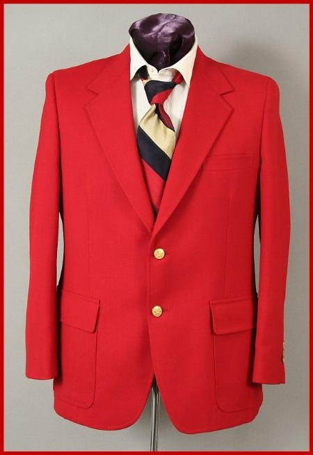 Regular $399 Harwick Made in USA Hot red color shade 2 Button Style Blazer Online Sale Sportcoats