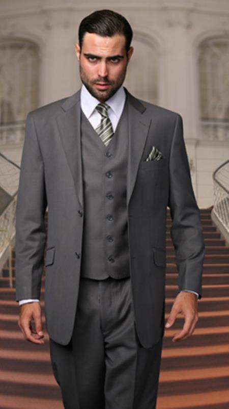 Slim Fit Charcoal 2 Button Suit