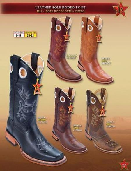 Rodeo Boots Leather Sole