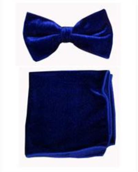 Velvet Bowtie with Hanky