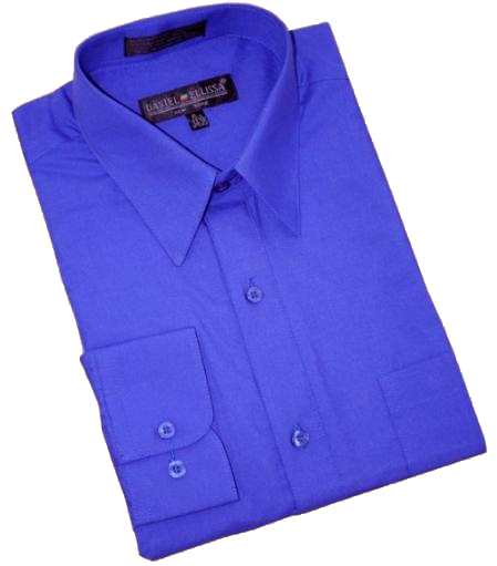 Product# CA568 royal blue pastel color Cotton Blend Dress Shirt With Convertible Cuffs