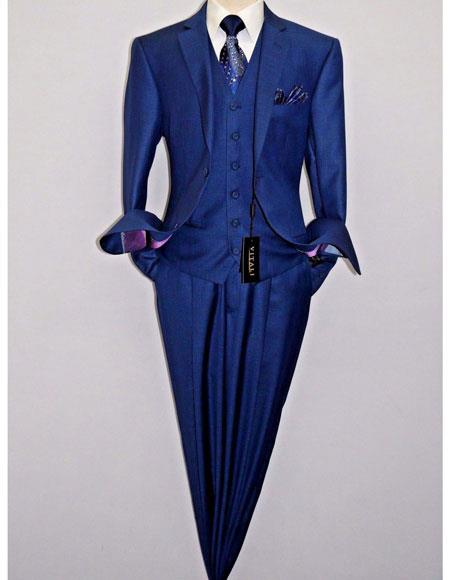 Mens Royal Blue Suit