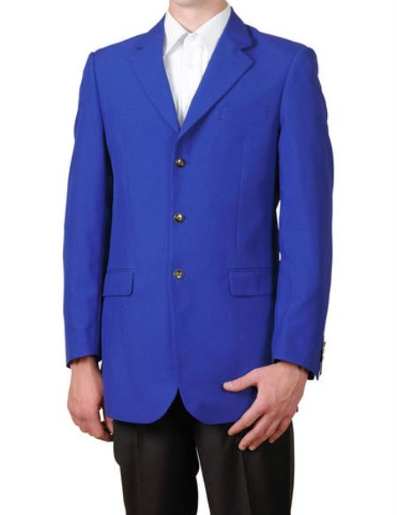 Product# EX22 Royal Blue Suit For Men Perfect  pastel color Single Breasted 3 Button Style Suit Jacket Sportscoat Dinner Blazer Online Sale