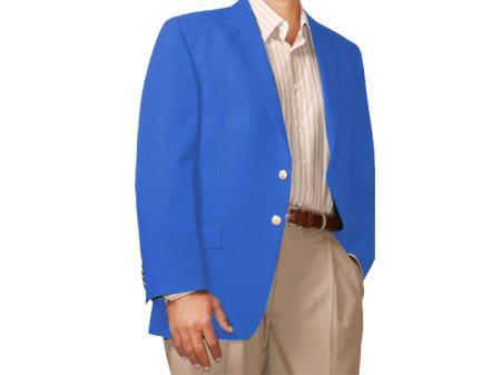 Product# HL8714 Two Button Blazer Online Sale Royal-blue ( + Women)