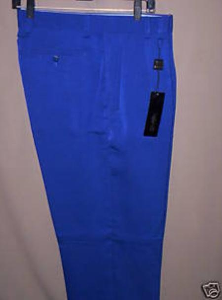 Product#KH822 long rise big leg slacks royal blue pastel color Wide Leg Dress Pants Pleated Slacks baggy dress trousers