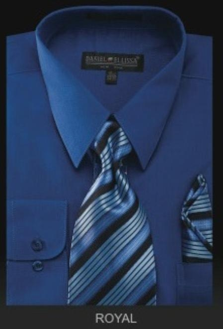 Product# RY6009 Dress Shirt - PREMIUM TIE - Royal
