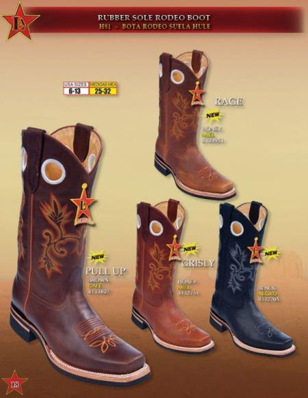 3X Rodeo Boots Rubber
