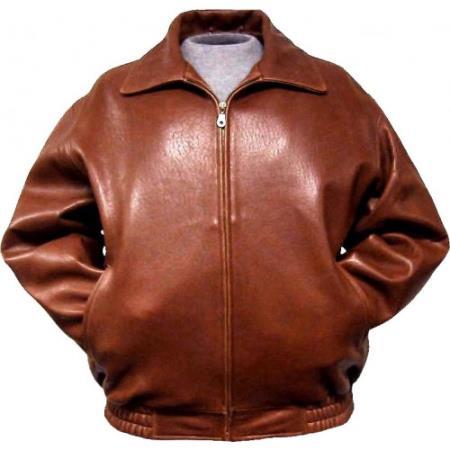 Leather Bomber Jacket Lambskin