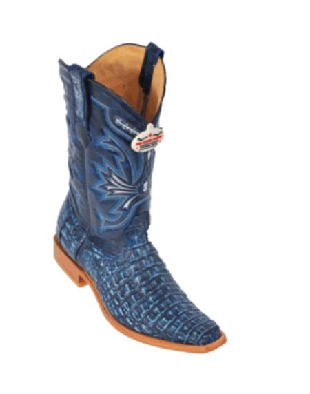 Product# KF4288 Rustic Blue Smooth Cowboy Boots