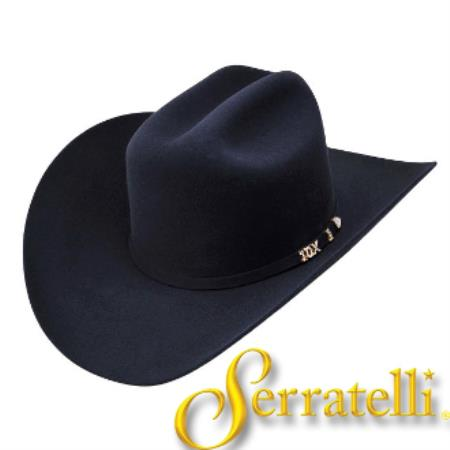 3366eb012 Product# KA6388 Serratelli Hat Company-10x Beaver Fur Felt Western Cowboy  Hat – Liquid Jet Black