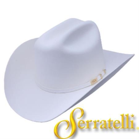 a1dfca220 Product# KA6258 Serratelli Hat Company-10x Beaver Fur Felt Western Cowboy  Hat – White