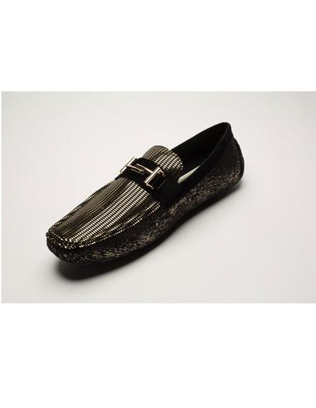 Mens Shiny Fashionable Black