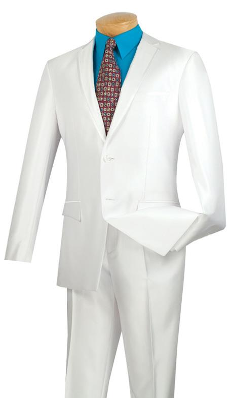 Tuxedo & Formal Shiny Flashy White Trimmed Slim narrow Style Fit Suits for Online Fitted Style