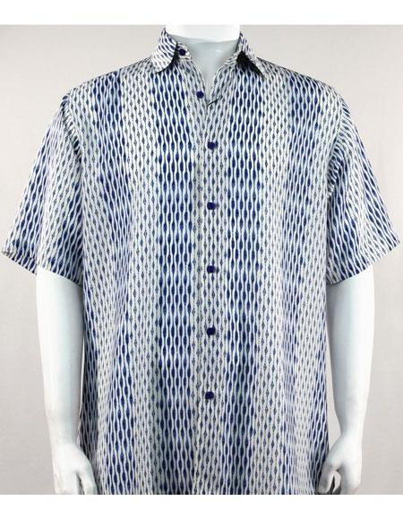 Bassiri Blue/White Short Sleeve